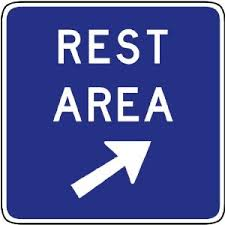 rest stop sign
